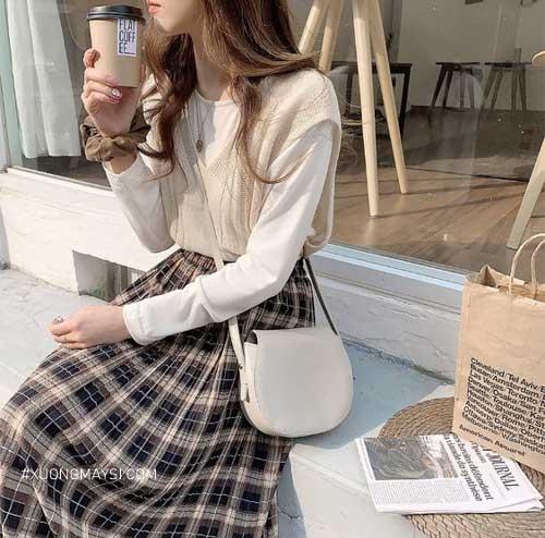 outfit đi học mùa đông ngọt ngào, trẻ trung