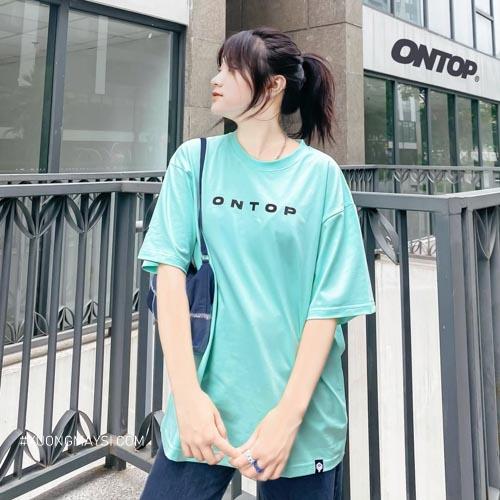 Áo thun Ontop với chất liệu thoáng mát kiểu dáng trẻ trung xinh xắn dành cho nữ