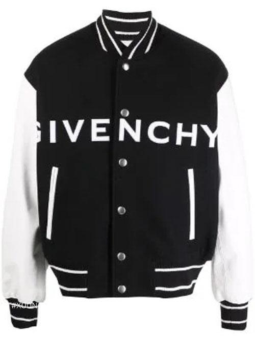 Áo khoác len trẻ trung độc đáo với dòng chữ Givenchy chạy ngang trên thân áo vô cùng trẻ trung và thời trang
