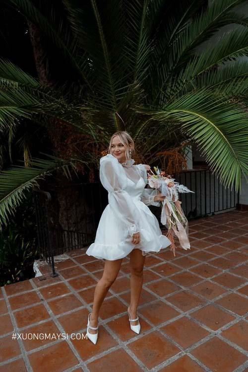 Thu hút và lạ mắt trong mẫu váy cưới ngắn