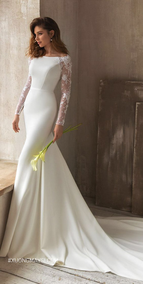 Váy cưới đuôi cá được nhiều chị em yêu thích