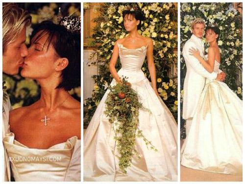 Victoria Beckham gợi cảm, quyến rũ trong bộ váy cưới từ thương hiệu Vera Wang