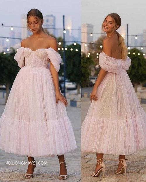 Váy cưới ngắn phù hợp giúp bạn thêm phần xinh xắn, ngọt ngào