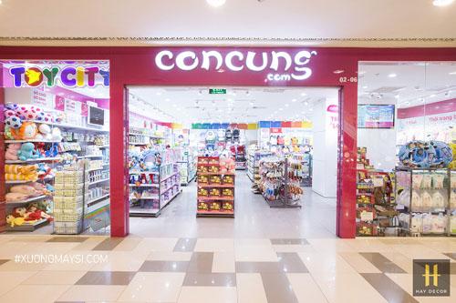 Cửa hàng Concung được phân bố khá rộng rãi trên thị trường Việt Nam với phân khúc thời trang dành cho mẹ và bé.