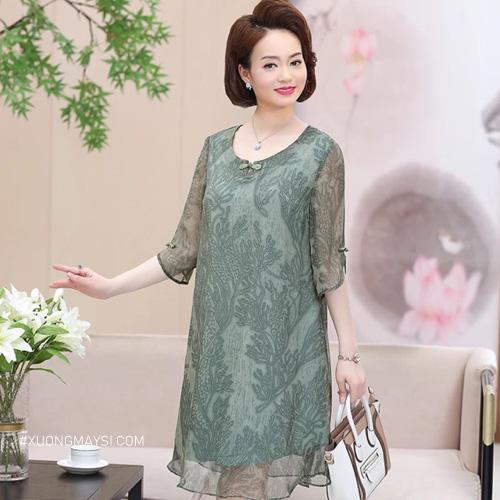 Đầm trung niên U60 quý phái thu hút dành cho các quý cô