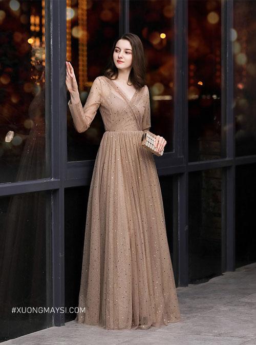 Đầm dạ hội cao cấp thiết kế với kiểu dáng vô cùng hiện đại ngày nay cho các quý cô có thể diện cho mọi hoàn cảnh