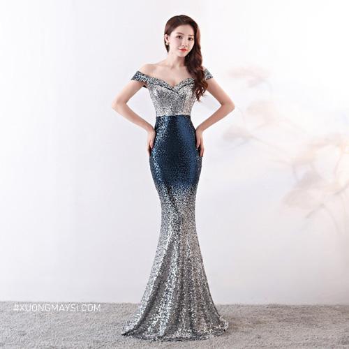 Đầm dạ hội đuôi cá lấp lánh kiêu sa dành cho các bạn nữ của chúng ta