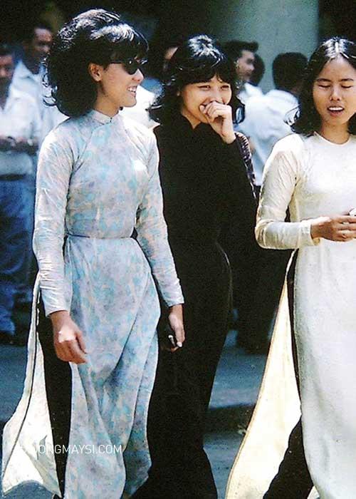 áo dài raglan định hình phong cách áo dài cưới xưa
