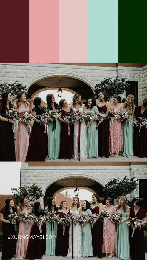 mỗi chiếc váy cưới màu khác nhau sẽ giúp nàng tỏa sáng theo một cách riêng