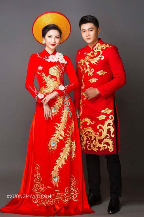 Áo dài đỏ là mẫu áo dài cưới truyền thống qua bao năm tháng