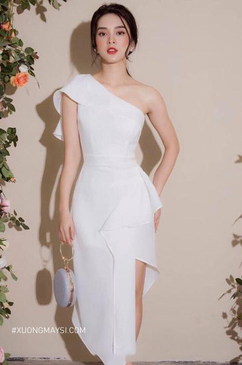 Đầm trắng dự tiệc mang phong cách hiện đại, quý phái cho các bạn nữ