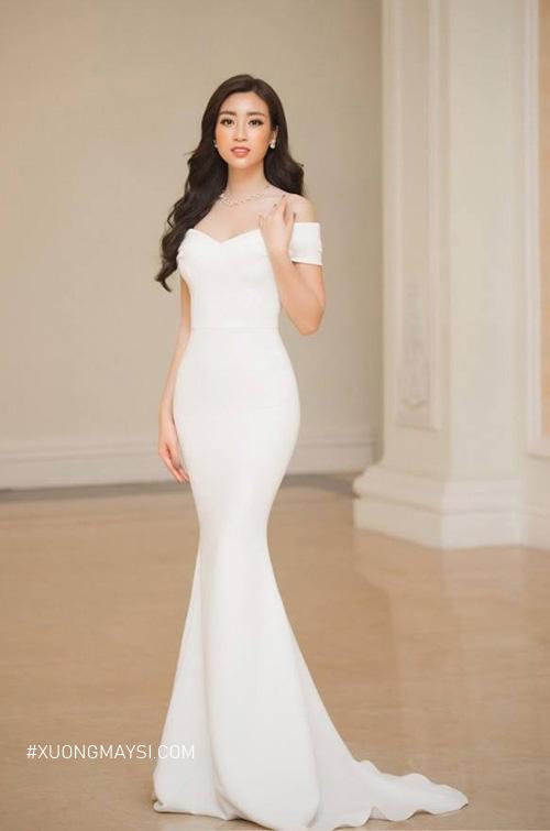 Đầm trắng đuôi cá dự tiệc mang kiểu dáng mới mẻ, độc lạ dành cho các bạn nữ