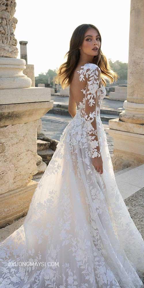 Phải lòng với các thiết kế váy cưới được làm nên vải ren