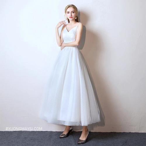 Đầm công chúa màu trắng mang đến vẻ đẹp của sự sang trọng và hiện đại cho các bậc mỹ nhân