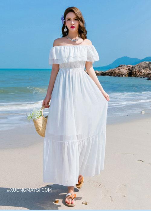 Phong cách đầm trắng trễ vai cuốn hút, quyến rũ và đáng yêu dành cho các cô nàng chúng ta