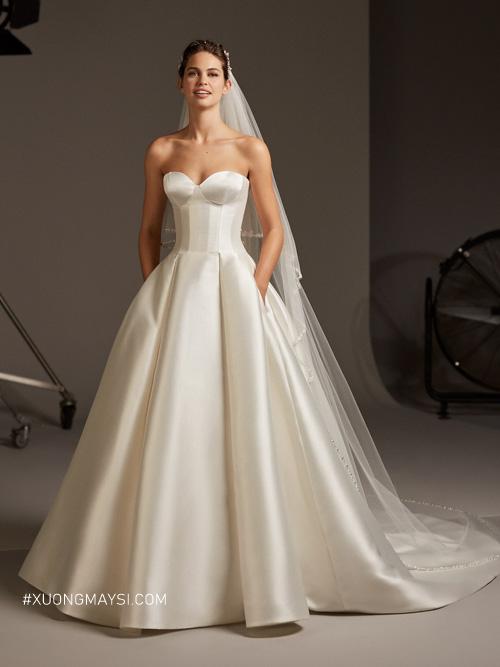 Vải Mikado kiến cho váy cưới của bạn được định hình, cứng cáp
