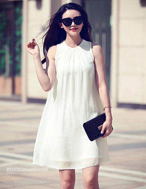 Đầm trắng suông là một loại đầm trắng đơn giản mang lại vẻ đẹp thuần khiết cho các bạn nữ