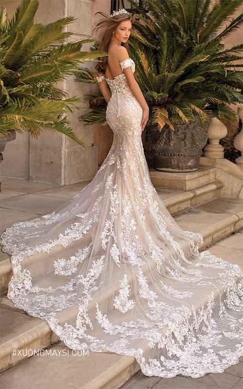 Đầm cưới kiểu dáng đuôi cá cực kỳ độc đáo và sang trọng dành cho các cô dâu