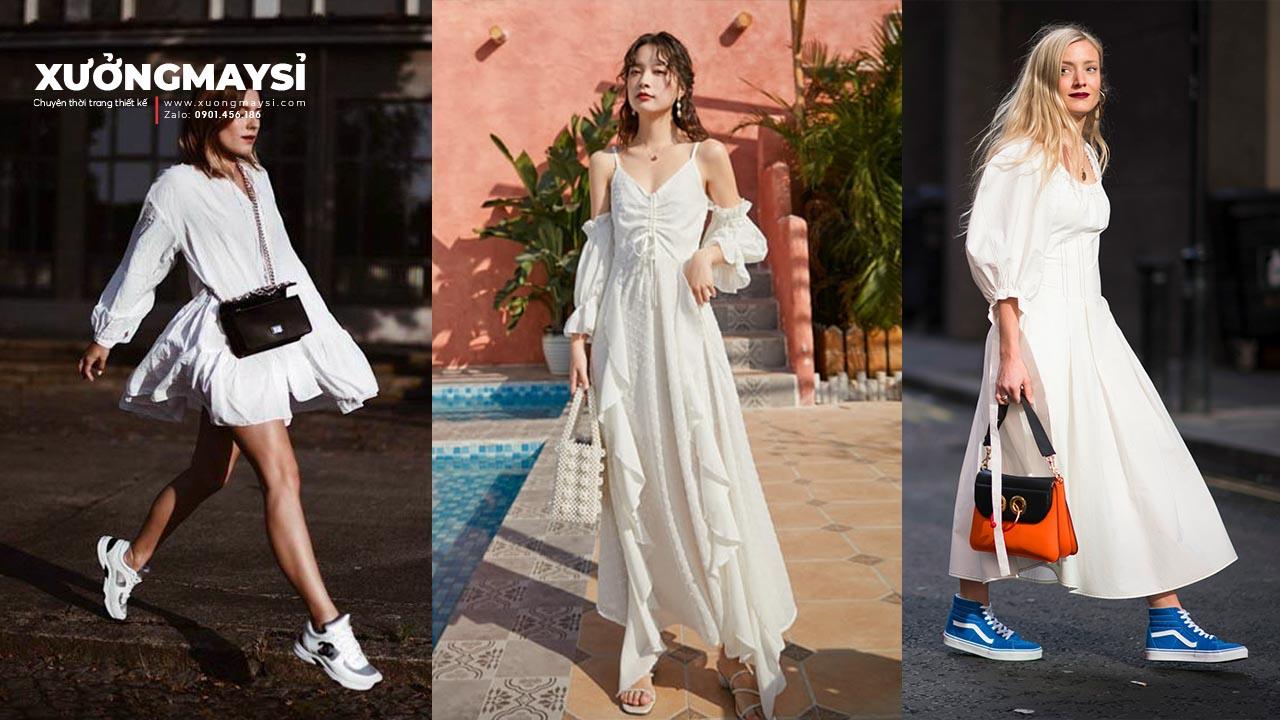 Đầm Trắng Mang Giày Màu Gì Sẽ Trở Nên Xinh Xắn Và Thời Trang?