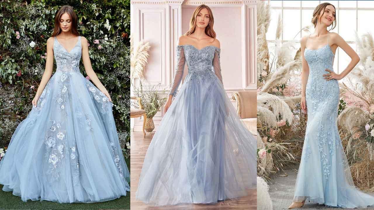 Ý nghĩa chiếc váy cưới màu xanh | #5 Mẫu váy cưới màu xanh hút hồn